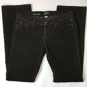 Ann Taylor Loft Modern Boot Cut Corduroy Pants 8